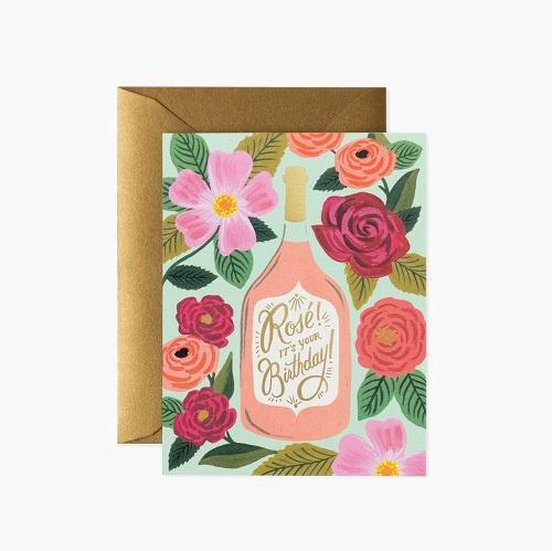 Rosé Its Your Birthday Card