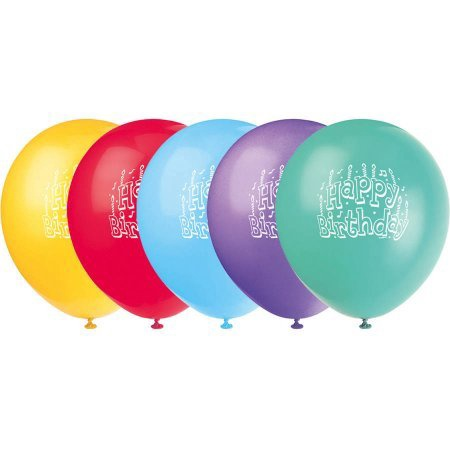 BALLOONS HAPPY BIRTHDAY 8 PCS 12