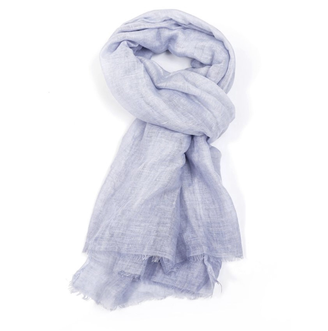 Plain tie dye sky blue scarf