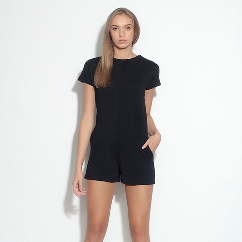 Cap Sleeve Short Jumper | Black