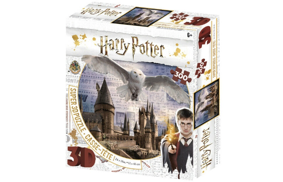 3D PUZZLE HARRY POTTER HOGWART AND HEDWIG 300 PCS