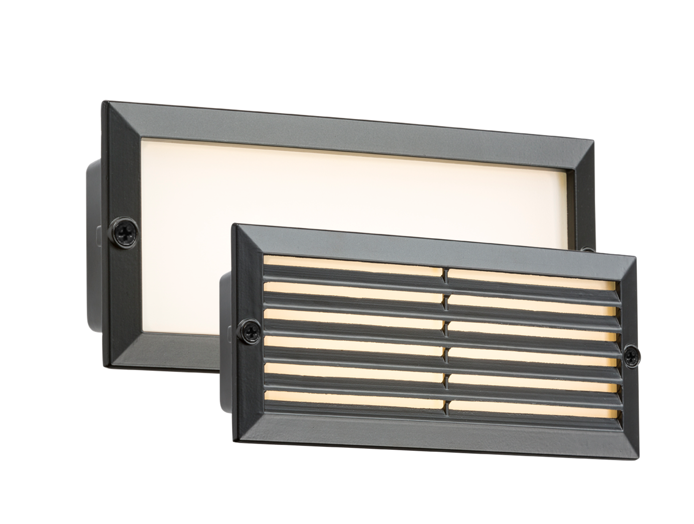 230V IP54 5W WHITE LED BRICK LIGHT - BLACK FASCIA