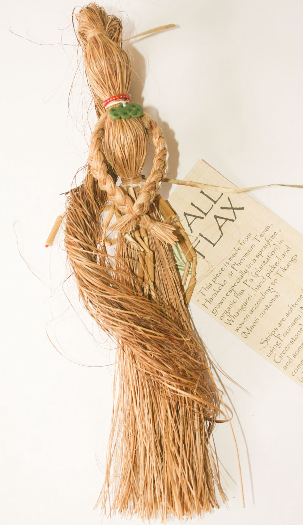 Flax Lady Piupiy Beads and Tiki