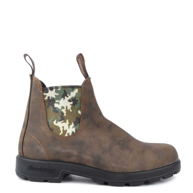 Rustic Brown Camo boot by Blundstone