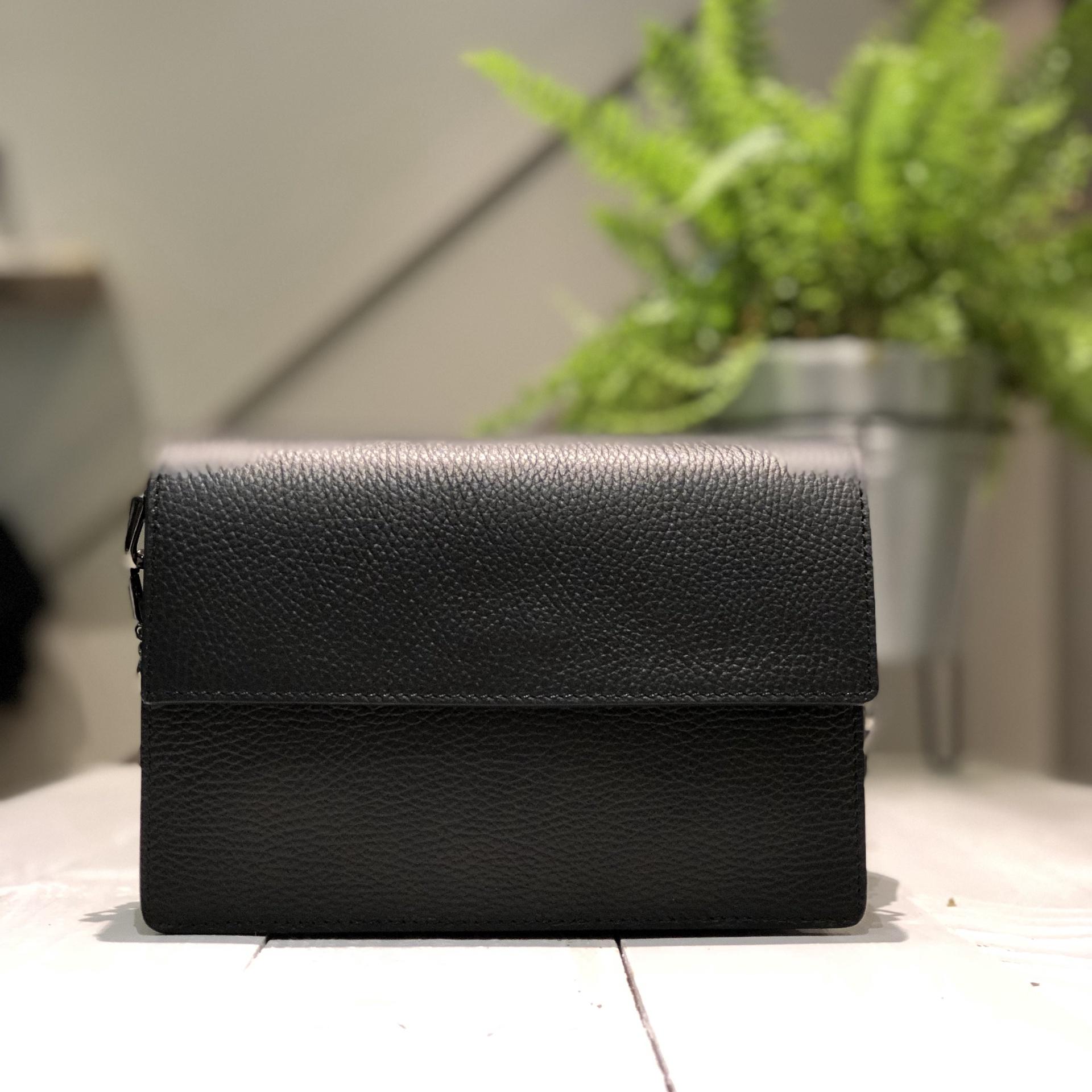 Iris Leather Bag - Black