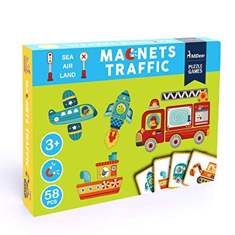 TRAFFIC MAGNETIC PUZZLE SET