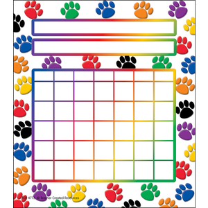 TCR 4773 COLOR PAW PRINT INCENTIVE CHART