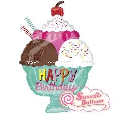 HAPPY BIRTHDAY ICE CREAM SUNDAE FOIL BALLOON