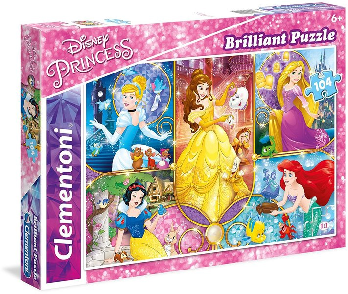 DISNEY PRINCESS BRILLIANT 104 PCS PUZZLE