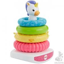 FISHER PRICE UNICORN ROCK -A-STACK