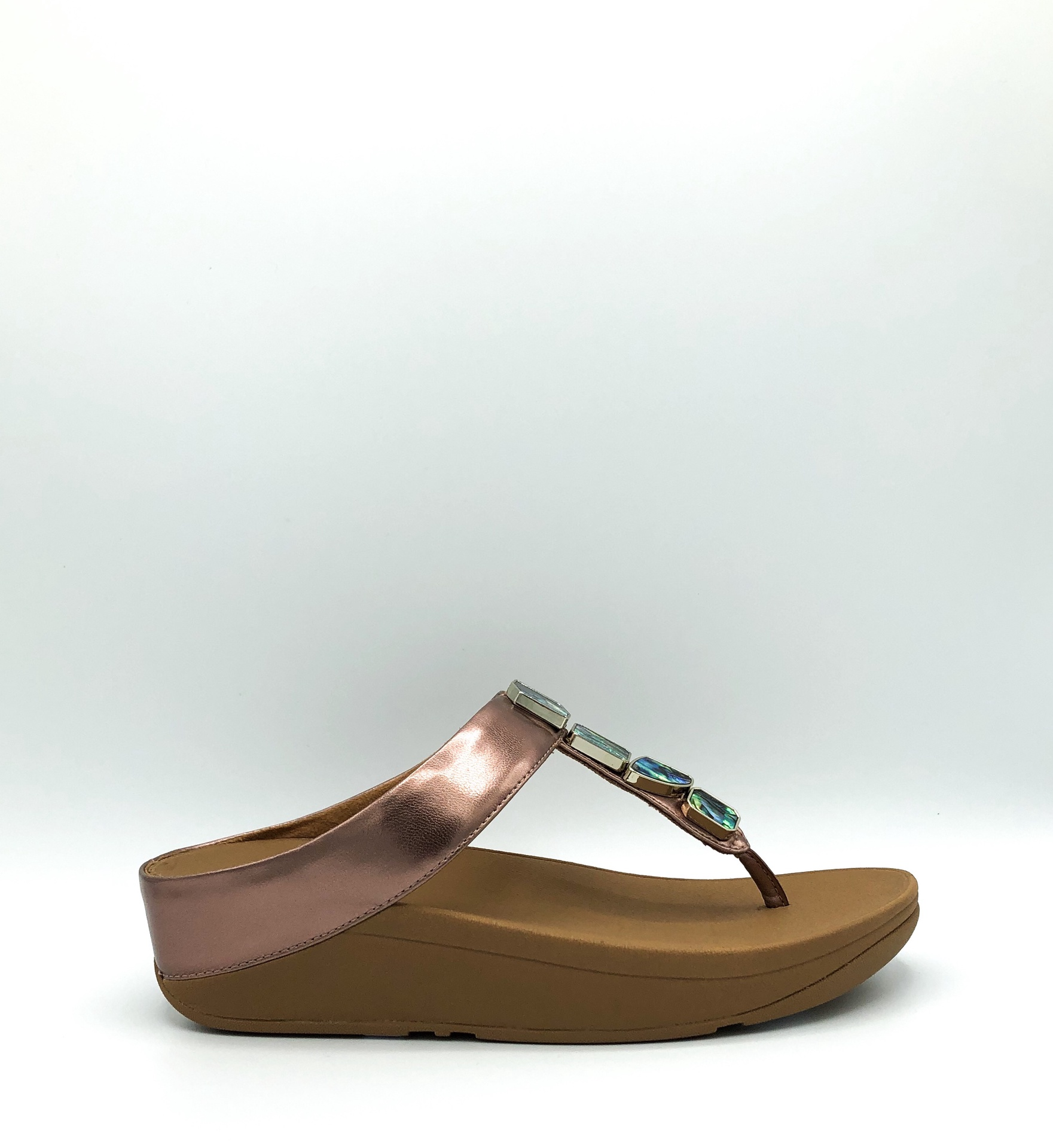 FIT FLOP - FINO SHELLSTONE IN ROSE GOLD
