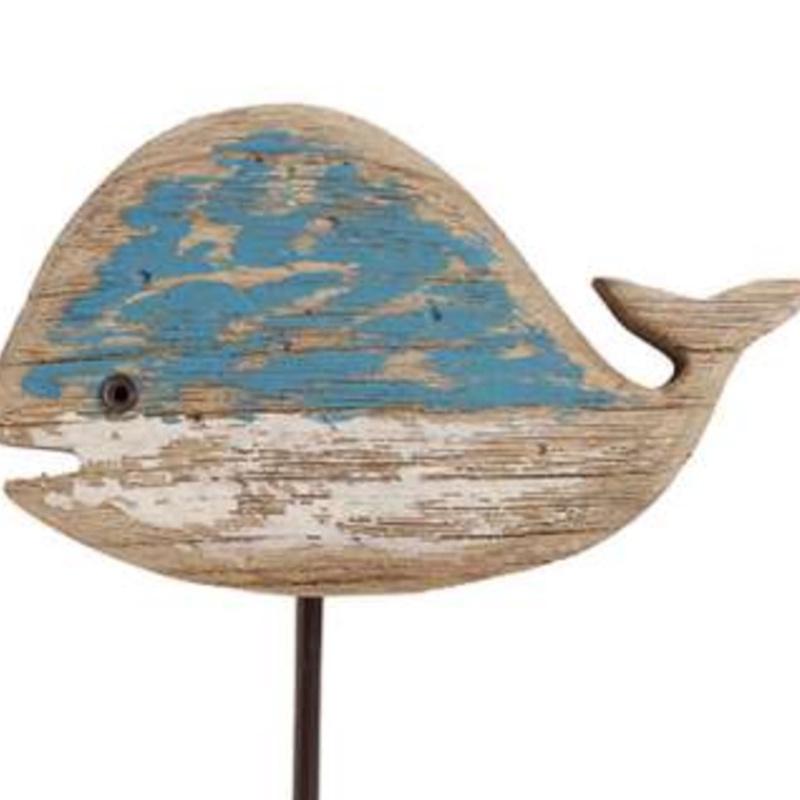 Driftwood Whale Hook