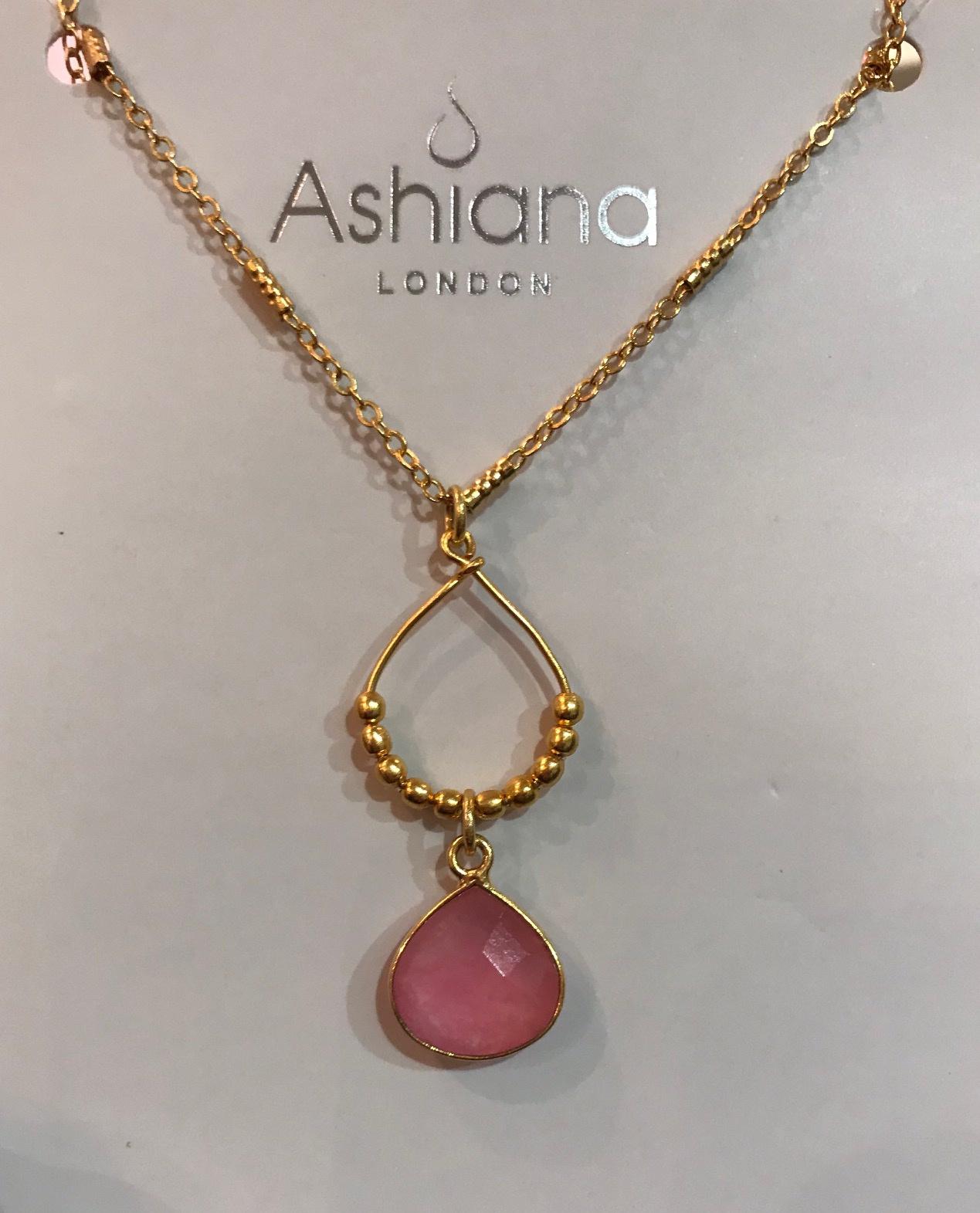 Mini Teardrop 22 carat gold necklace by Ashiana