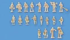 Model Scene #5157 N 20 Unpainted Figures (Set B)