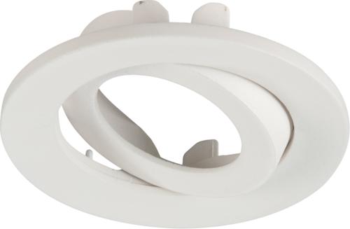 Adjustable Matt White Tilt Bezel for VFR8 LED IP20 DownlightsL
