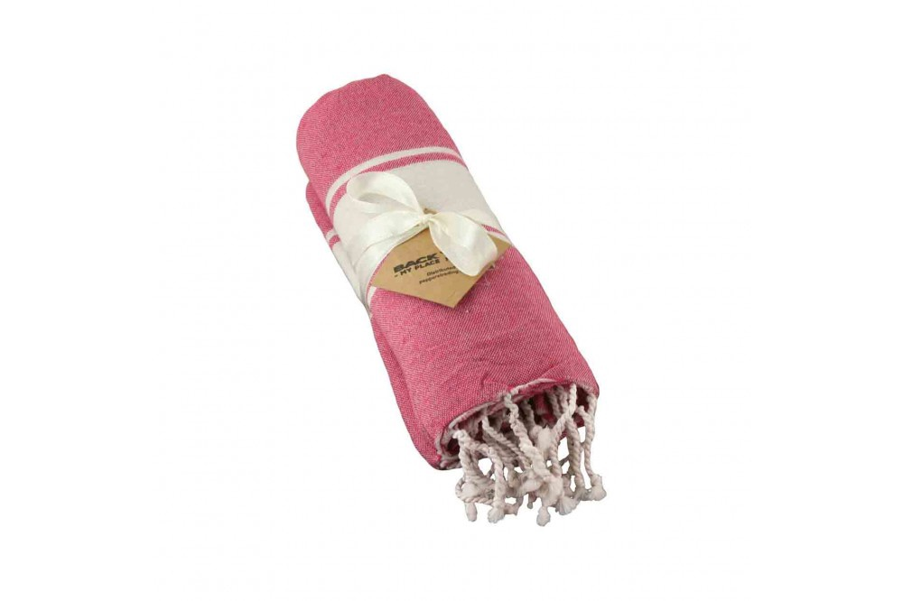 Cotton Towel Pink wide band