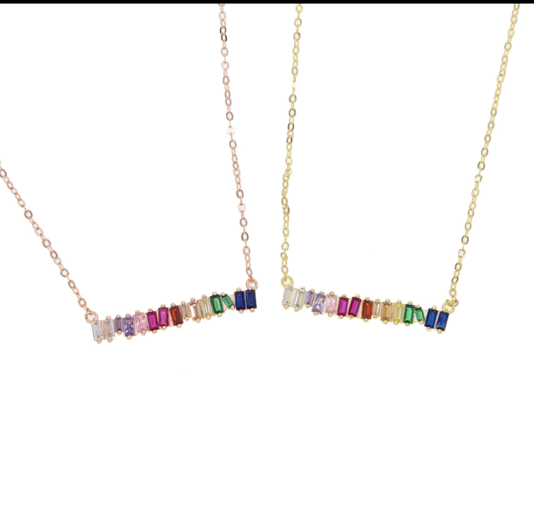 Balance Bar Pendant Necklace