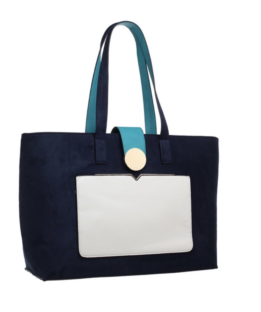 Genoa Shopper with Front Pocket Navy