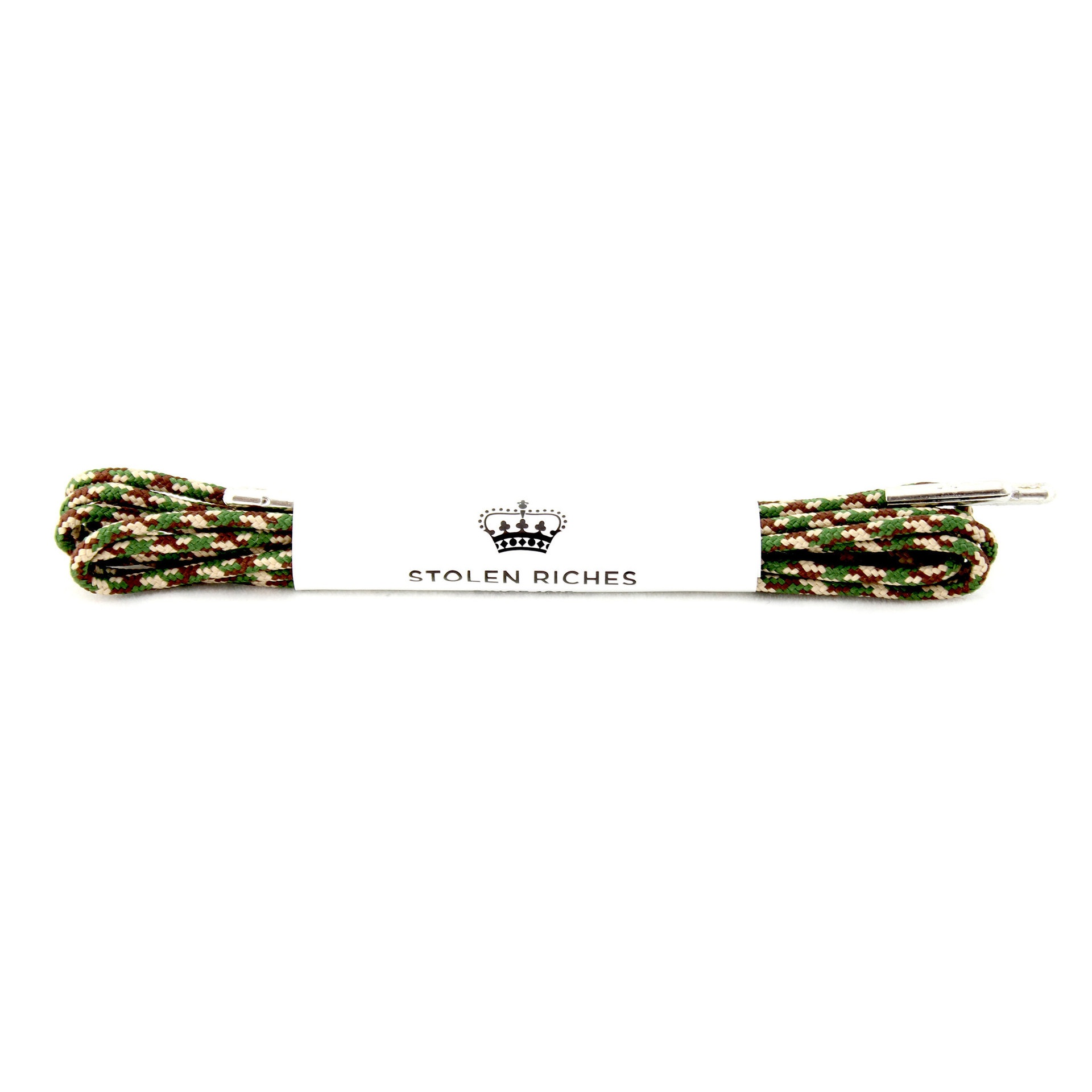 STOLEN RICHES - DRESS LACES (5-6 EYELETS) IN CAMO GREEN
