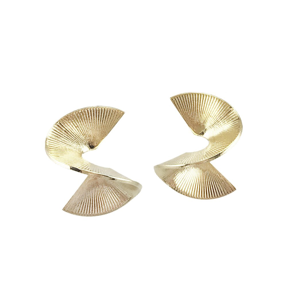 BIKO - SOLARWAVE STUDS MINI IN GOLD