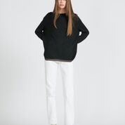 REED JUMPER - BLACK PEPPER + CHESTNUT