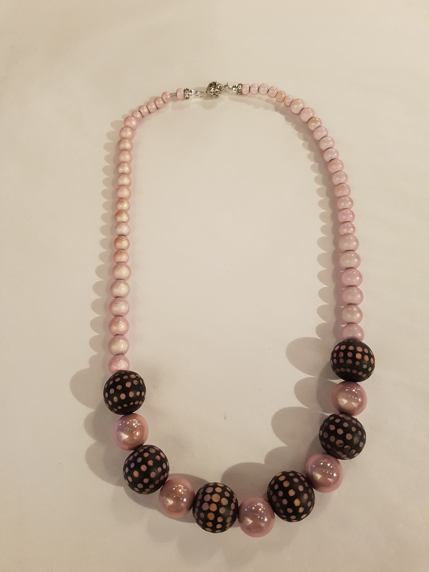 Stunning Pink Pearlescent Necklace