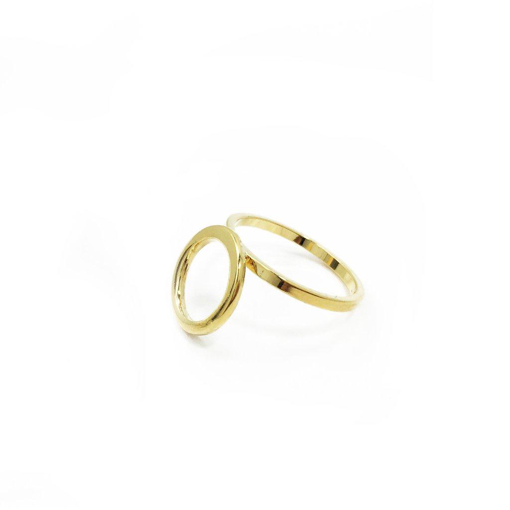 BIKO - LOOP RING IN GOLD