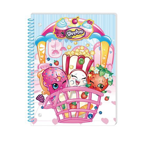 SHOPKINS 50 SHEET SINGLE SUBJECT THEME NOTEBOOK IN A