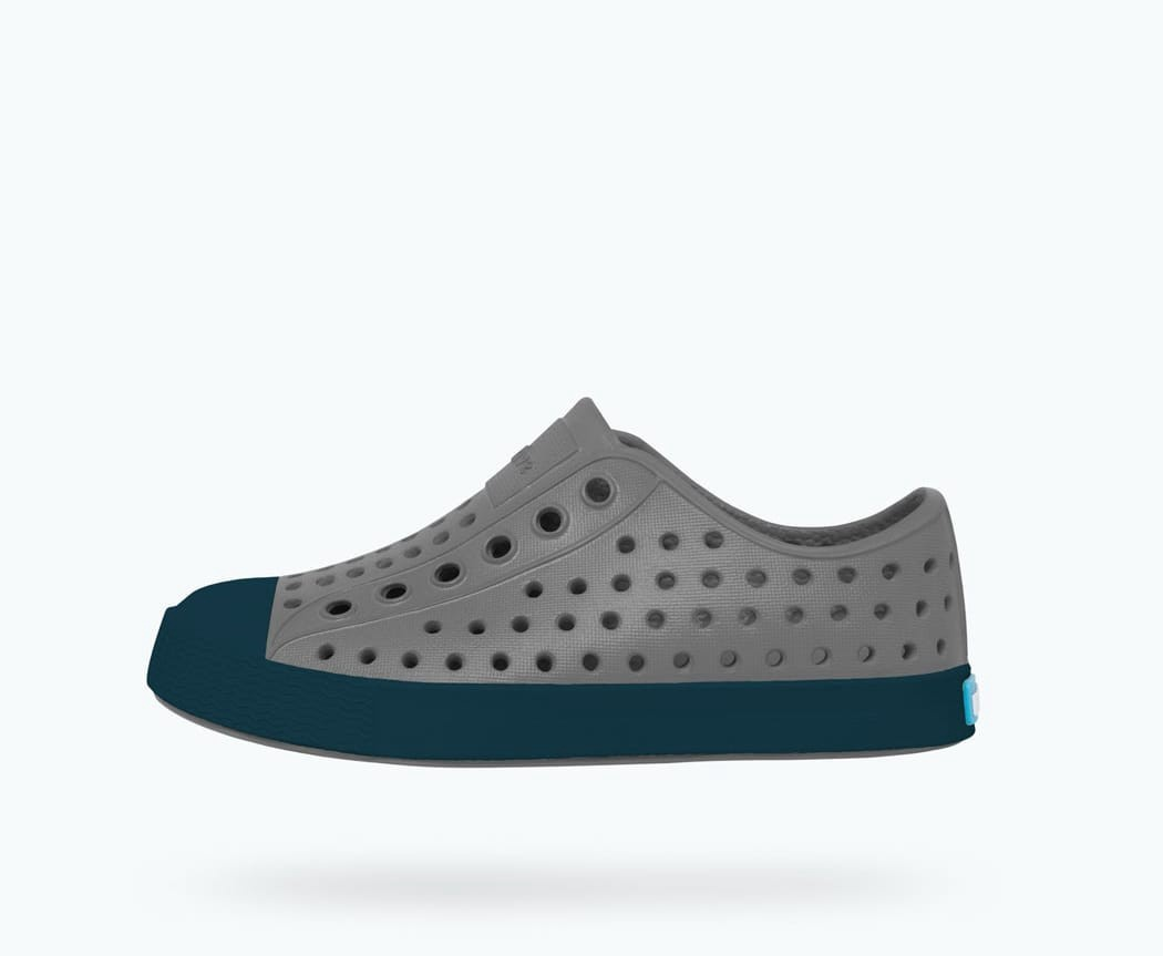 Native Jefferson Shoe, Child Dublin Grey/Trench Blue