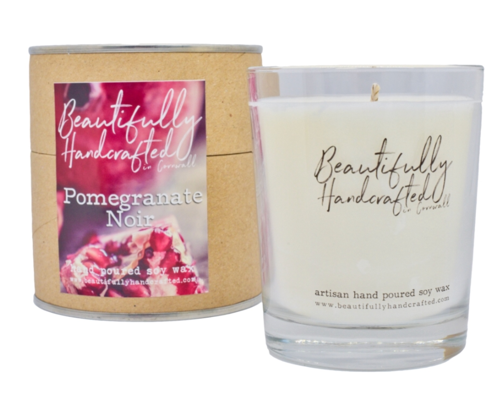 Beautifully Hand Crafted Ponegranate Noir Jar Candle