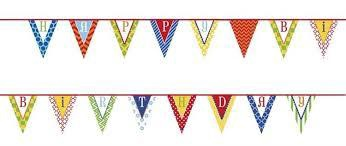 FLAG BANNER HAPPY BIRTHDAY