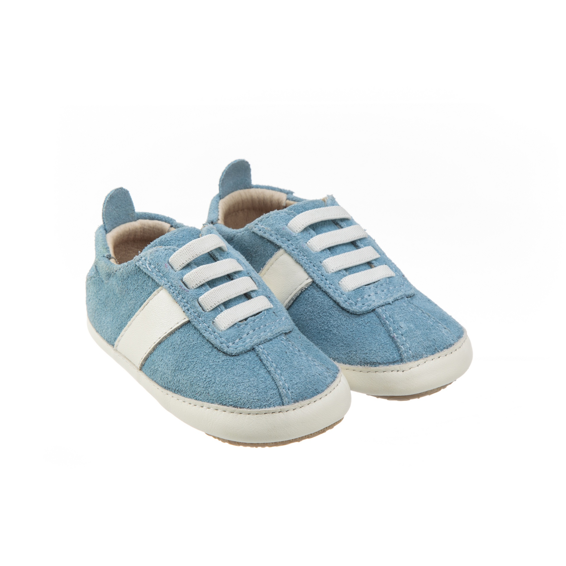 Old Soles Vintage Bambini Blue Sky Suede White