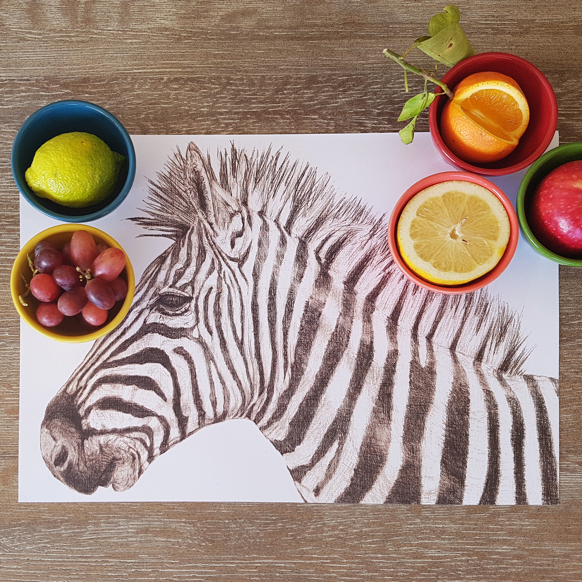 Paper Placemats - Zebra (Rect) 420mm x 297mm