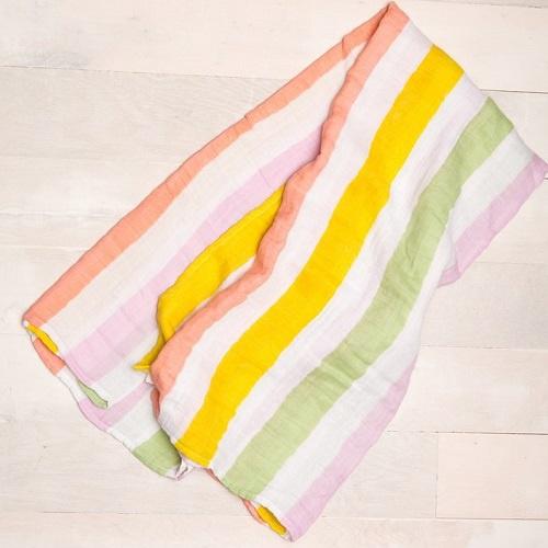 Cotton Muslin Swaddle | Cabana Stripe