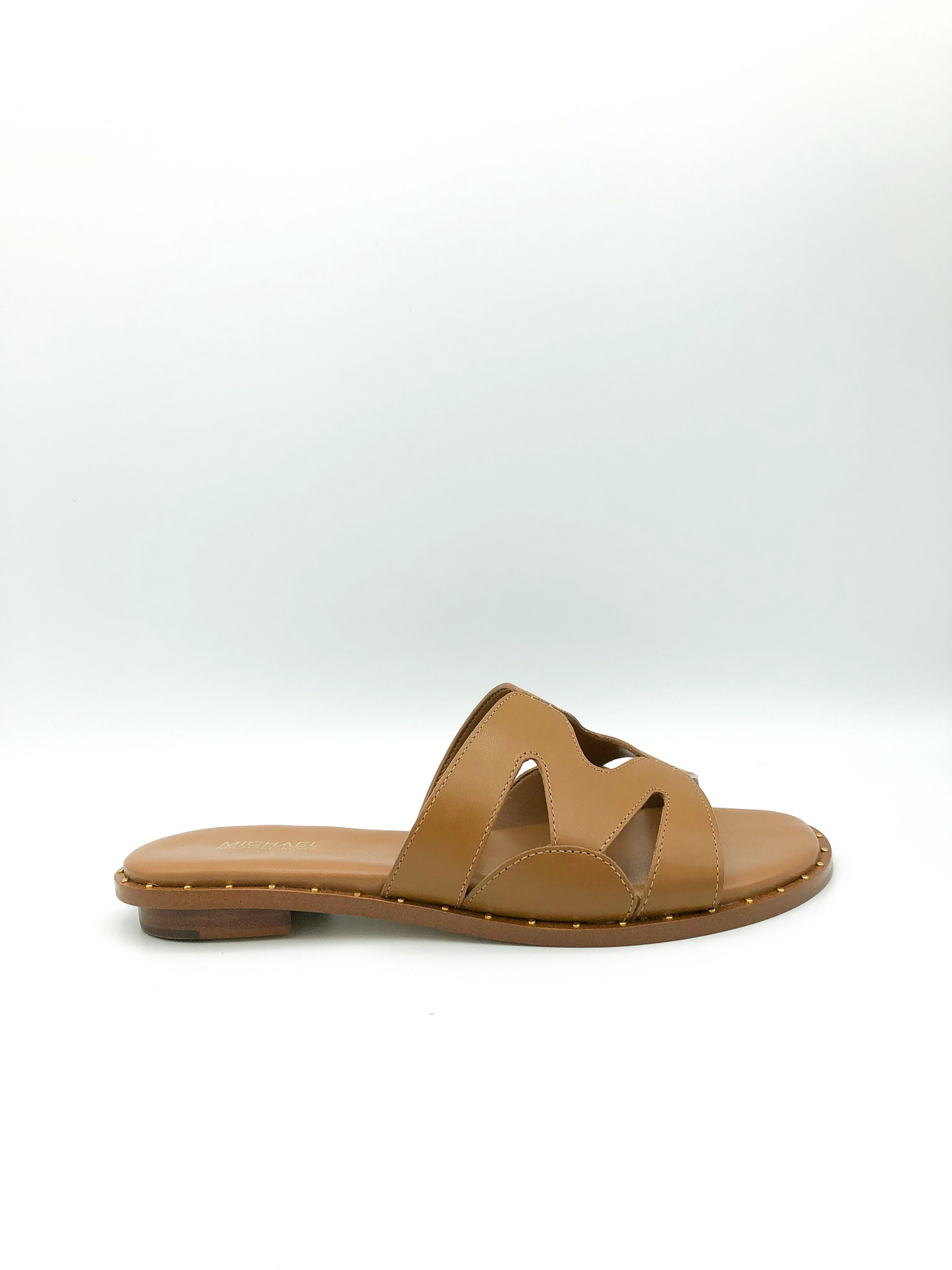 MICHAEL KORS - ANNALEE LEATHER SLIDE IN ACORN