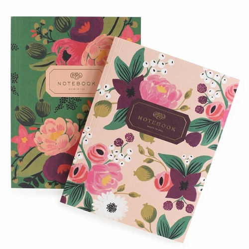Vintage Blossoms Notebook Pair