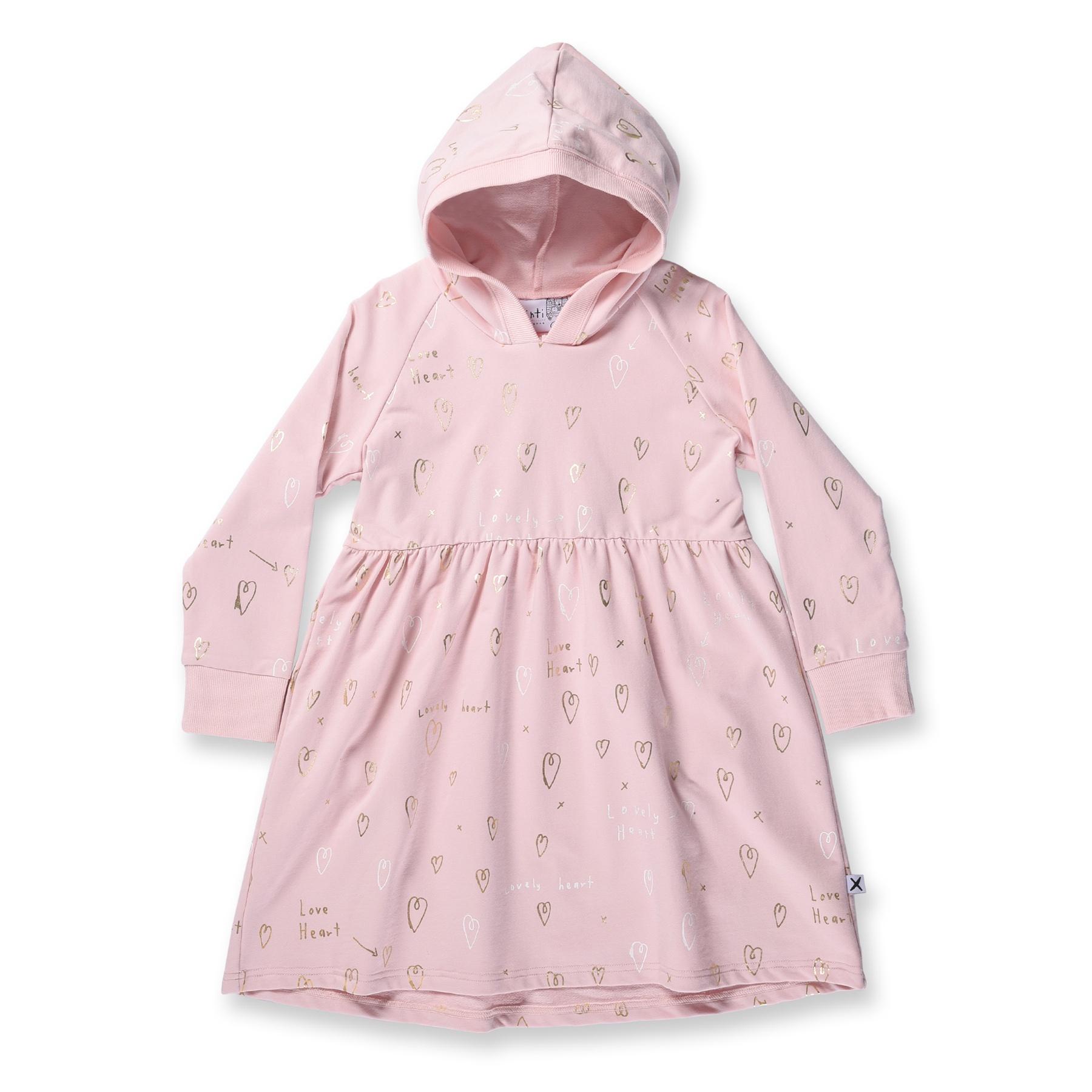 Minti Lovely Heart Hoodie Dress