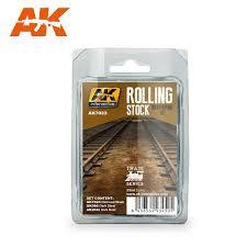 AK Interactive #AK7023 Rolling Stock Weathering Set
