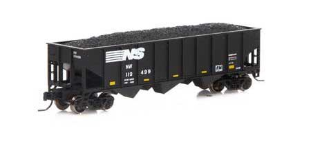Athearn #ATH17624 N 40' 3 Bay Ribbed Side Open Hopper-NS