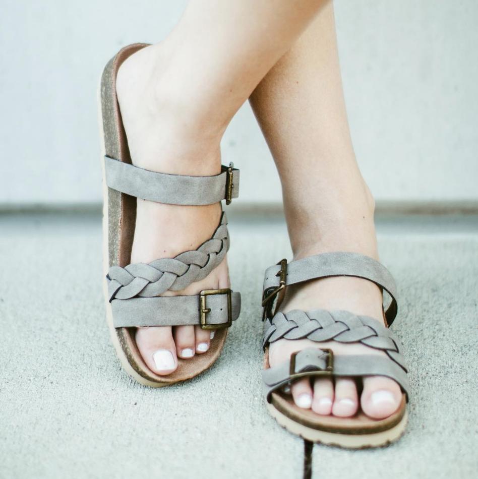 Birk Sandal w Braid Stripe