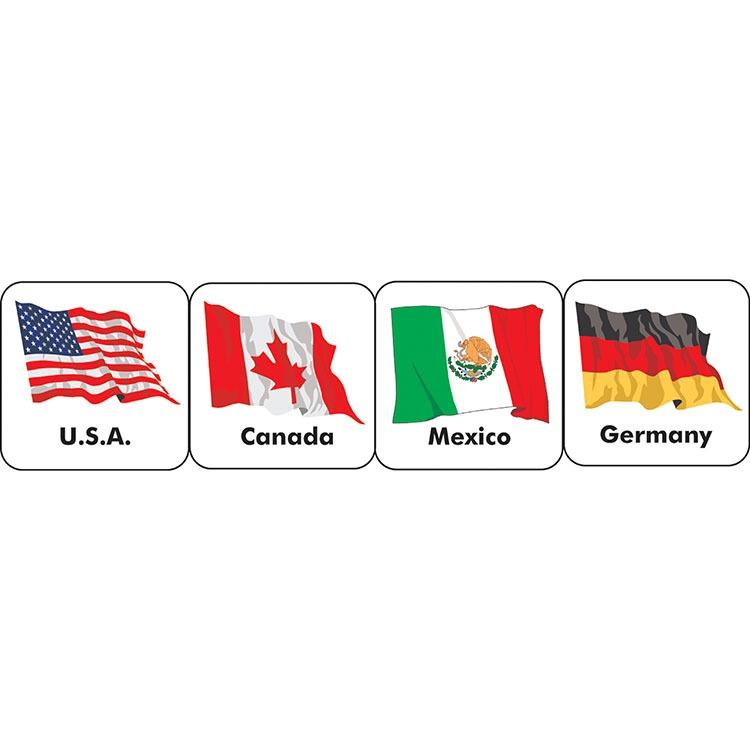 EU 655080 WORLD FLAGS STICKERS