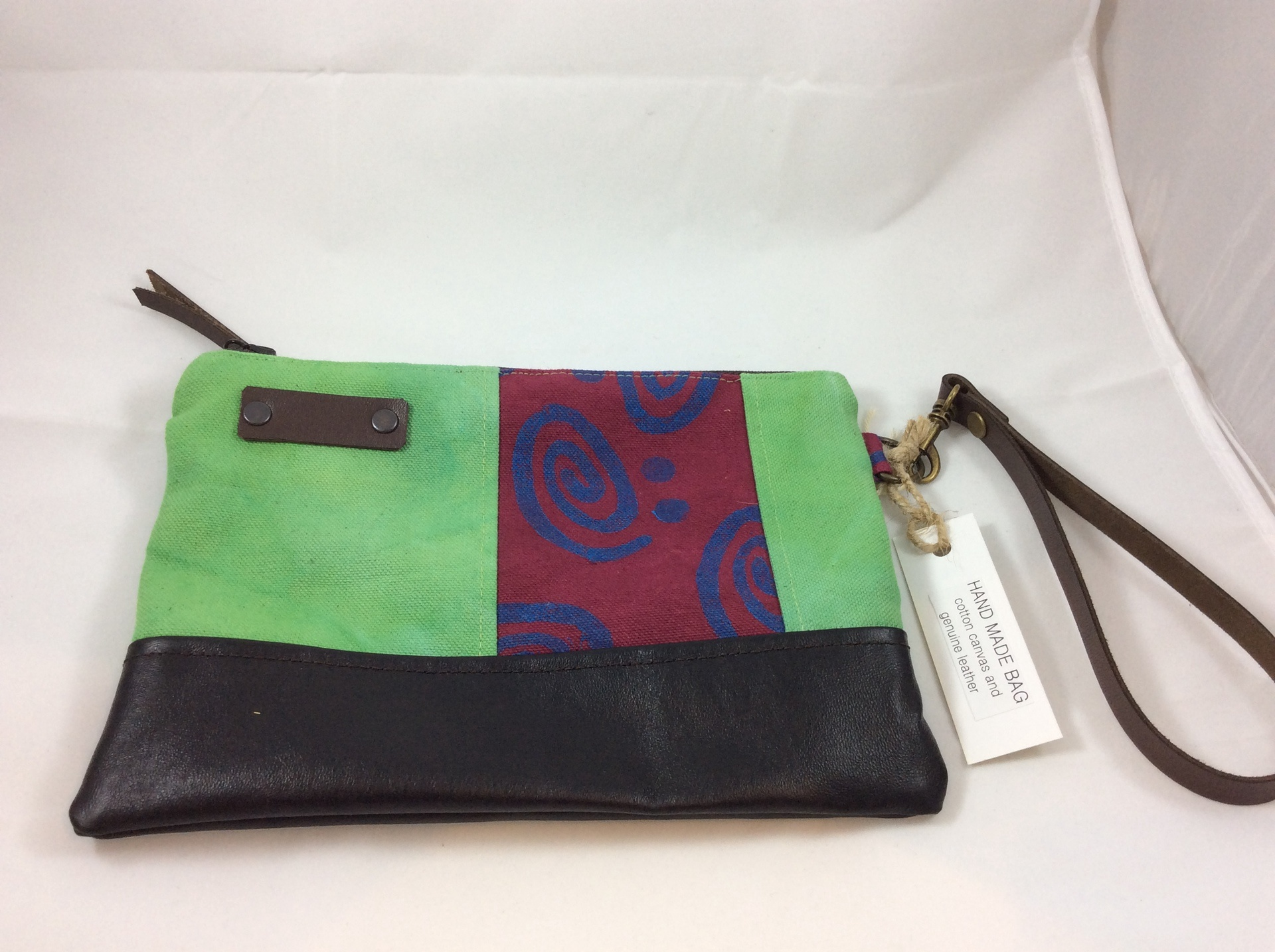 Green, Black, Crimson and Blue Wrist Clutch