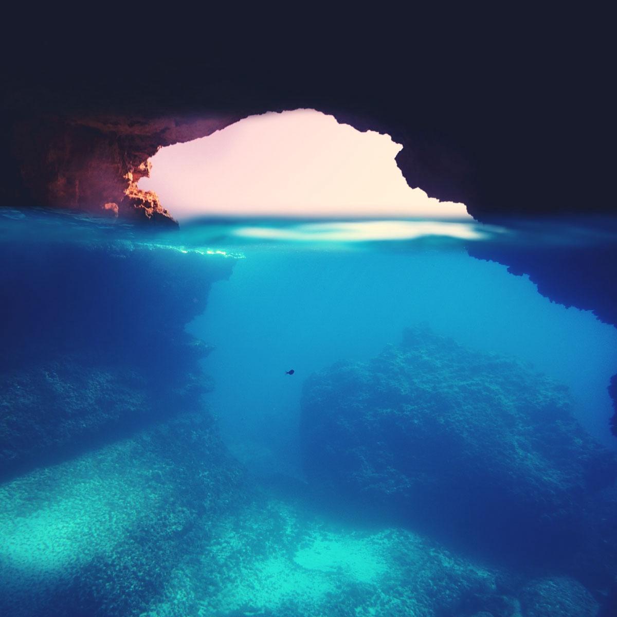 Blue Cave Cala Almunia