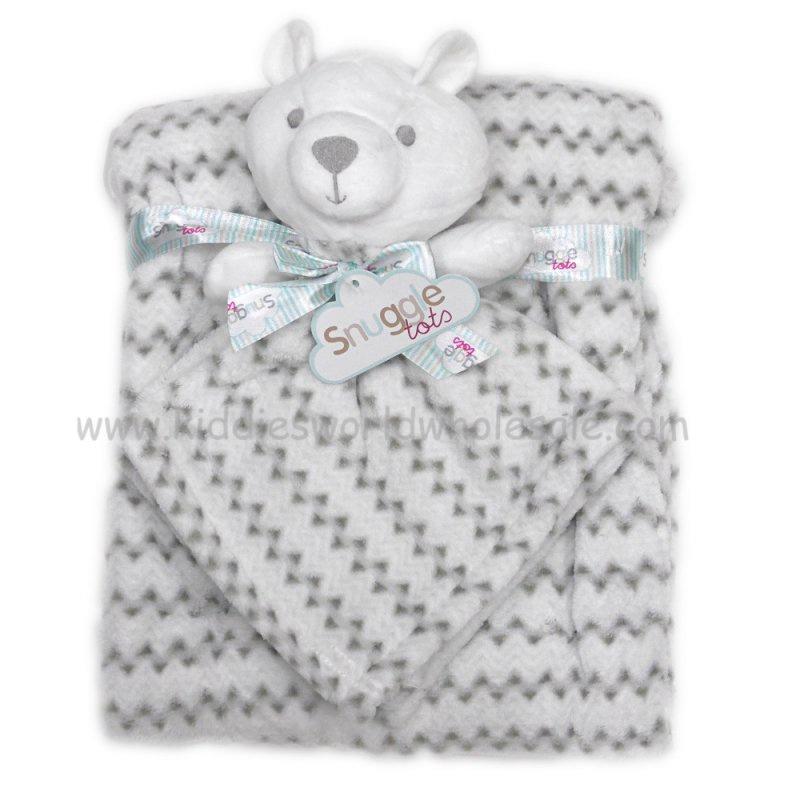Bear comforter and blanket