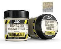 AK Interactive #AK8033 Light and Dry Crackle Effects 100ml