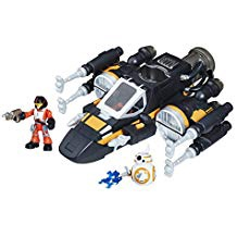 STAW WARS GALACTIC HEROES POE'S BOOSTED X-WING FIGHTER
