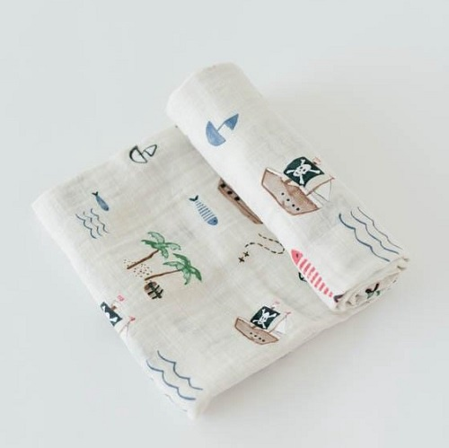 Cotton Swaddle | Treasure Map