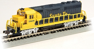 Bachmann #63563 N Scale GP40 with Operating Headlights (Santa Fe)