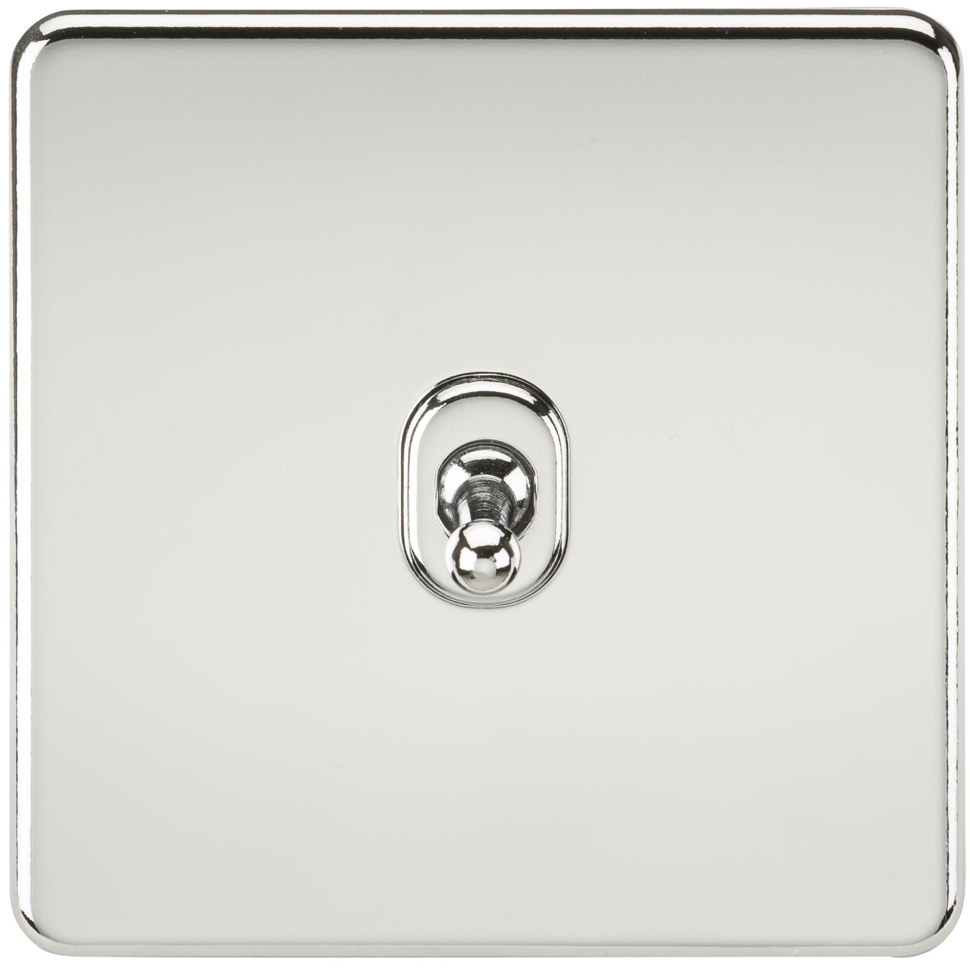 SCREWLESS 10A 1G INTERMEDIATE TOGGLE SWITCH - POLISHED CHROME