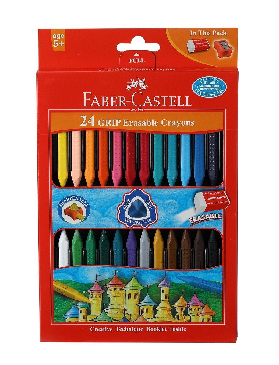 GRIP ERASABLE CRAYONS 24